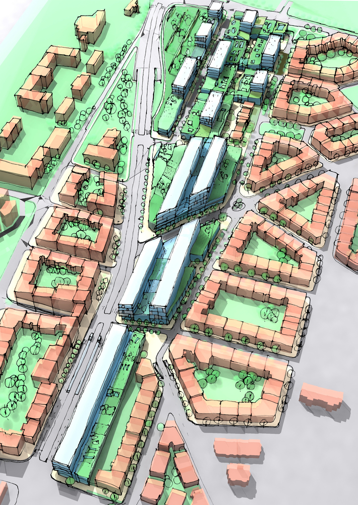 Illustration of a new urban area